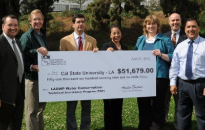 CSULA Awarded $50,000 Check